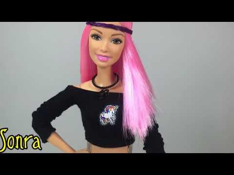 Делаем сами прически для куклы Барби