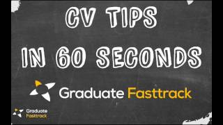CV Tips In 60 Seconds