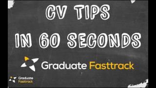 CV Tips In 60 Seconds