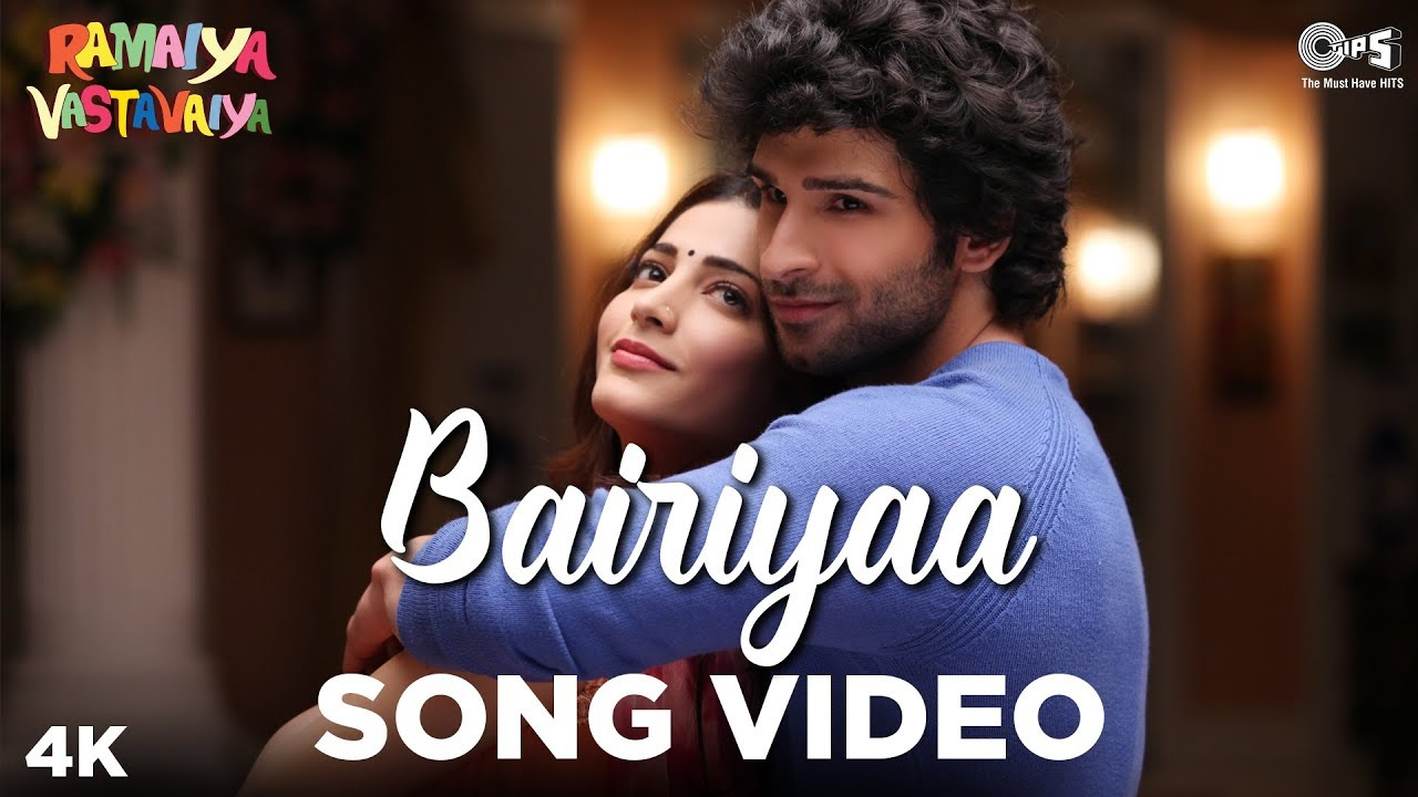 Bairiyaa - Video Song | Ramaiya Vastavaiya | Girish Kumar & Shruti Haasan | Aatif & Shreya