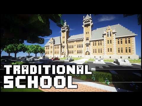 Minecraft - Beautiful Traditional School