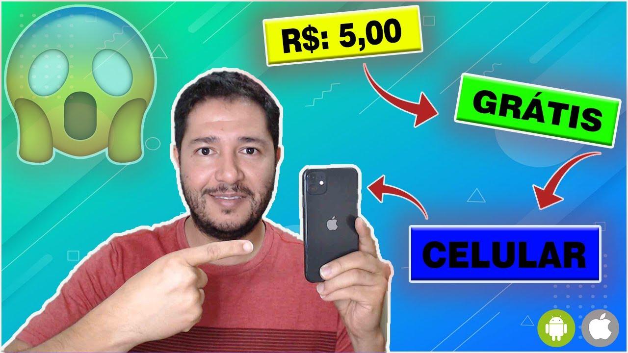 O JEITO MAIS FÁCIL DE GANHAR R$ 5,00 REAIS COM UM CELULAR - CORRE QUE TA PAGANDO