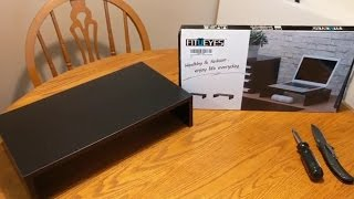 Fitueyes DT104201WB Monitor Riser - Unboxing, Assembly, Review