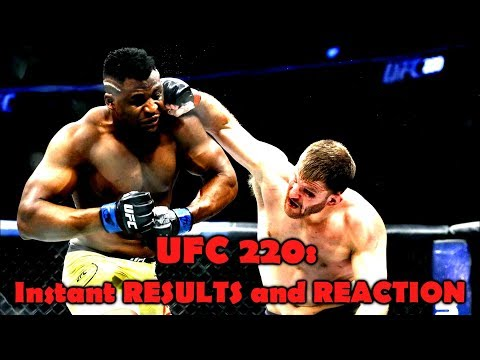 UFC 220: Results and Reaction