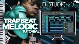 How To Make A MELODIC TRAP BEAT from SCRATCH in FL STUDIO | MIXING and BEAT ARRANGEMENT Tutorial