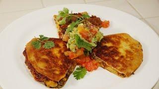 Shrimp and Mushroom Quesadillas