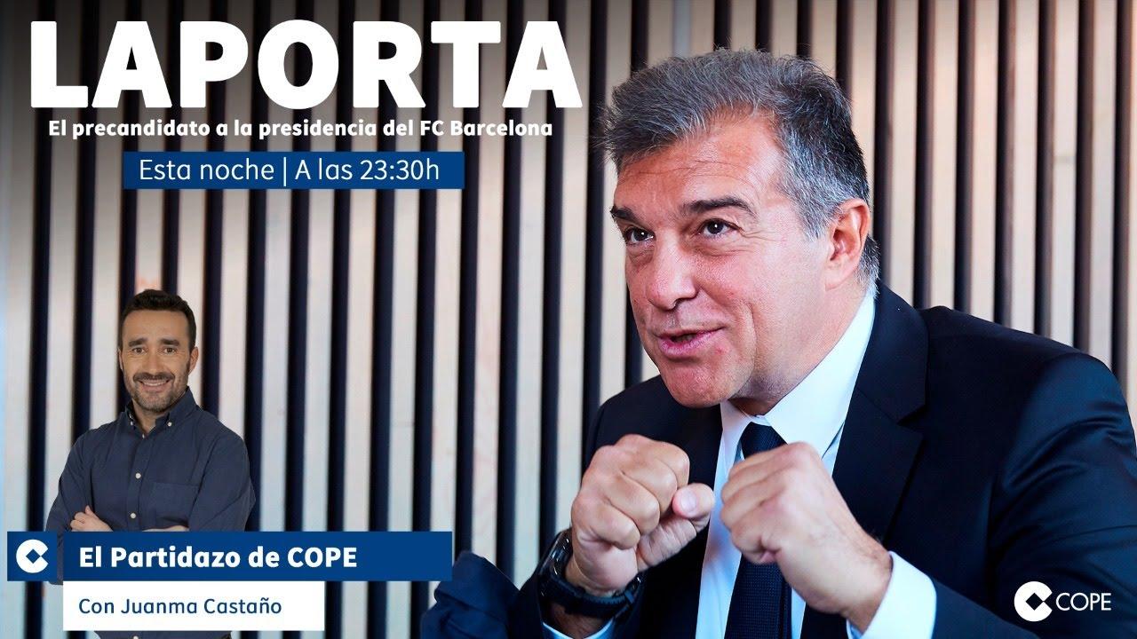 Entrevista a Joan Laporta en El Partidazo de COPE