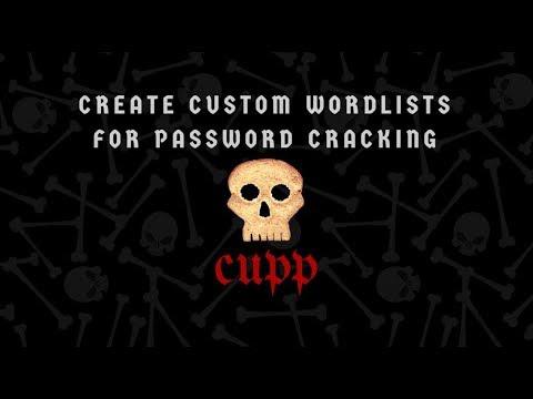 Create Custom Wordlist with Kali Linux 2019