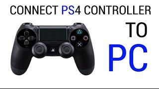 Connect PS4 controller to PC - Windows 8/7/Vista/XP