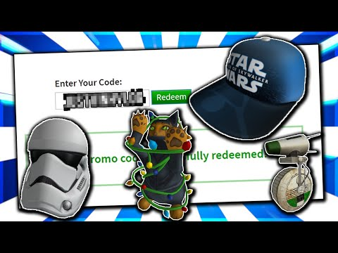 *DECEMBER* ALL ACTIVE WORKING PROMO CODES ON ROBLOX 2019| STAR WAR ITEMS(NOT EXPIRED)
