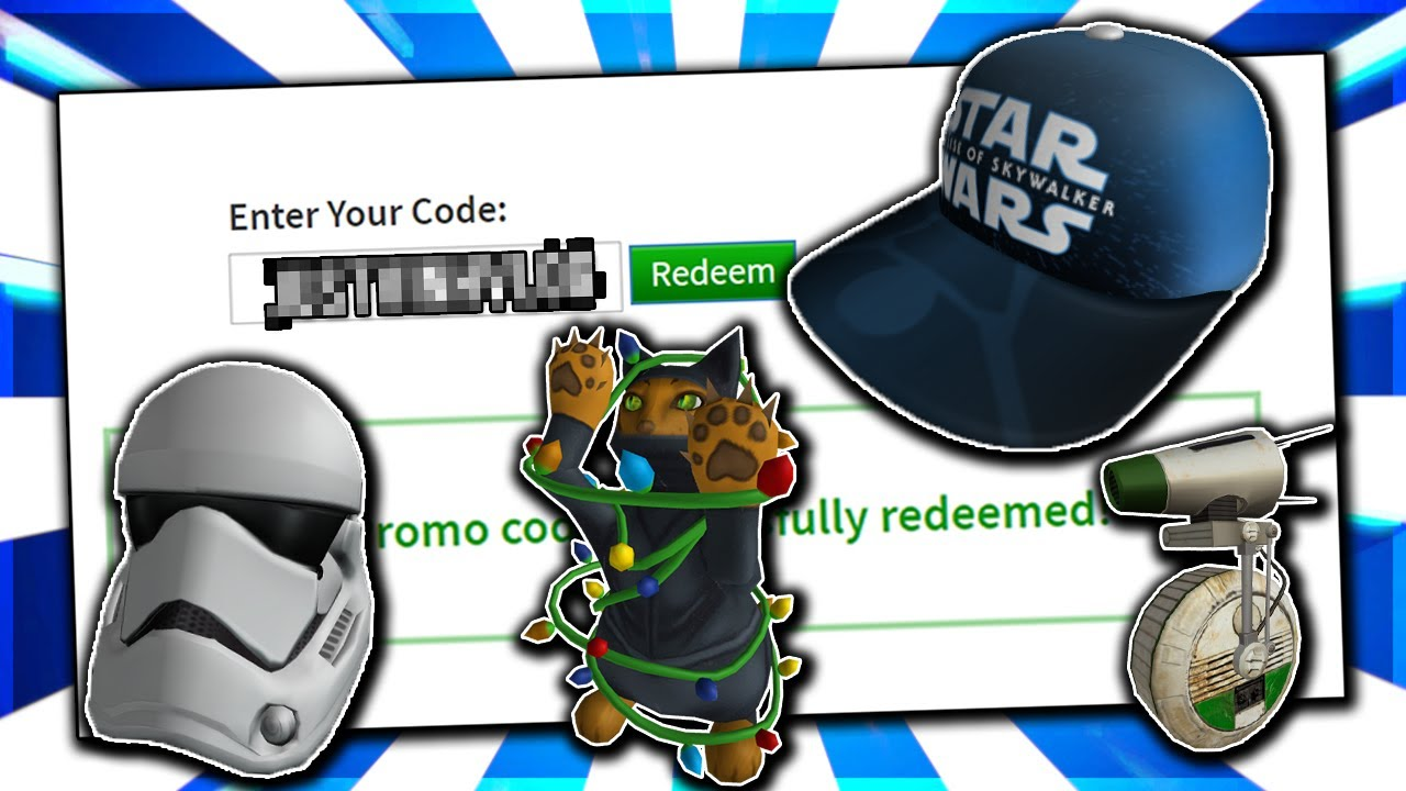 Roblox 2019 Hat December All Active Working Promo Codes On Roblox 2019 Star War Items Not Expired Youtube
