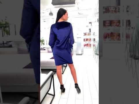 Короткое бархатное платье KV-S909A360