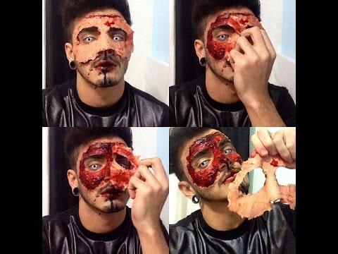 Maquiagem Terror / Horror makeup /Tirando a pele - Victor Nogueira