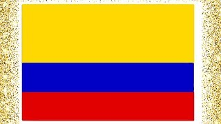 Colombia Flag Drawing and Coloring Page |  Drawing Colors for Kids