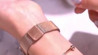 로즈골드 패션 여자손목시계 자석 밴드 생활방수