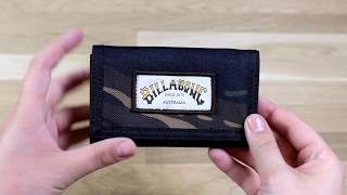Billabong Atom Wallet Polyester Wallet in Camo