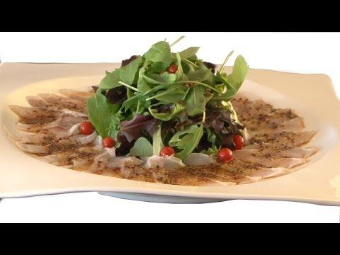 Como preparar Ensalada de Sashimi de Lubina / Recetas cocina japonesa en español