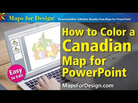 How to Color a Canada Map and Make a Sales Territory Map