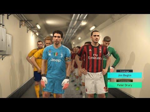 PES 2018 PC - AC Milan vs Juventus Gameplay