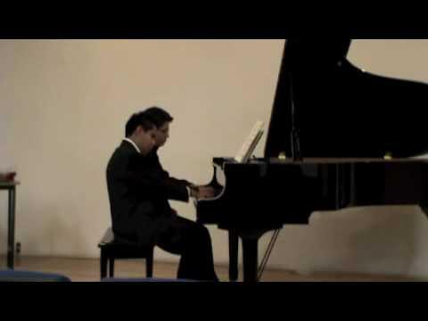 W. A. MOZART: Sonata k.381, Allegro (blind pianist) -- José Antonio López & Ulises Marcelo