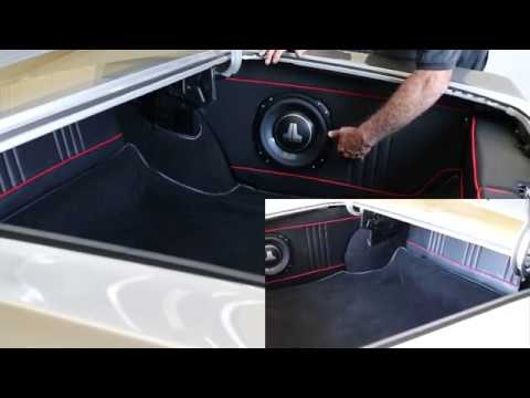RetroSound Install In 1967 GTO Alpine Speakers And JL Subs