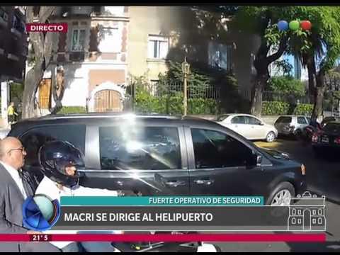 Macri se dirige a la asunción de Vidal - Telefe Noticias