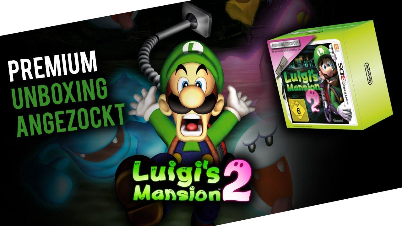 Luigi S Mansion 2 Premium Unboxing Angezockt Nintendo 3ds Xl