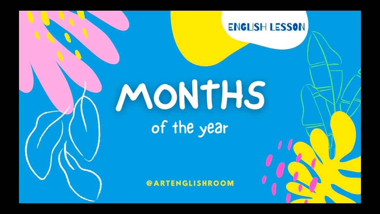 Download Months of the year vocabulary in English / English for kids / Learn English