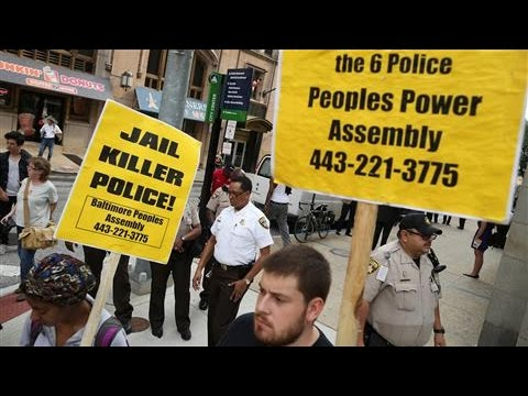 Protests Form at Freddie Gray Murder Hearing