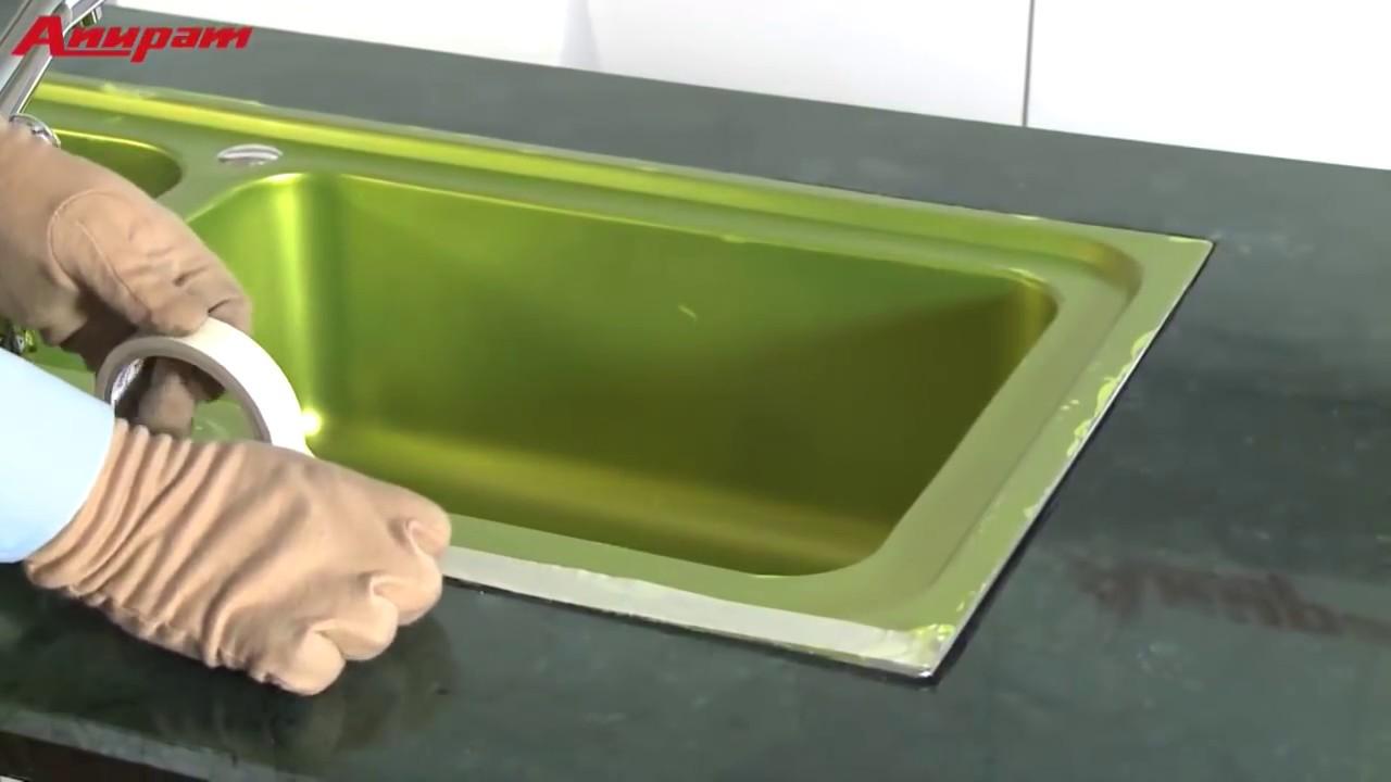 Anupam Kitchen Sinks-Flushmount Installation - YouTube