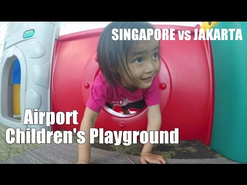Singapore vs Jakarta ❤ Children playground Changi Airport  Singapore vs Terminal 3 Jakarta (VLOG004)