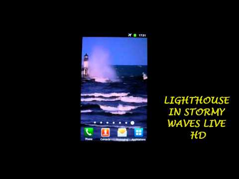 Lighthouse in stormy waves hd apps on google play - Lighthouse live wallpaper ...