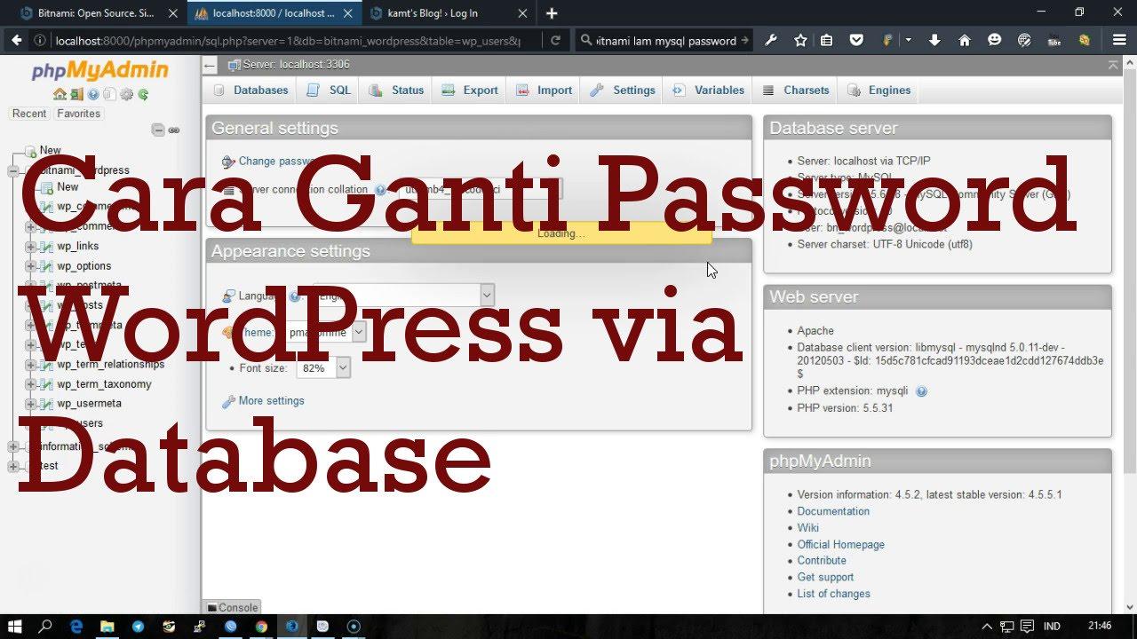Cara Mengganti Password WordPress Terlupa via Database