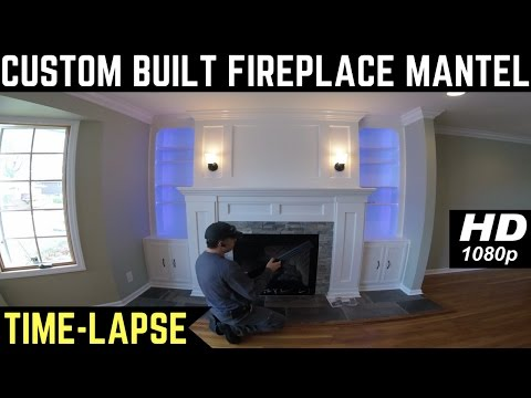 Custom Built Fireplace Mantel (Time-Lapse)