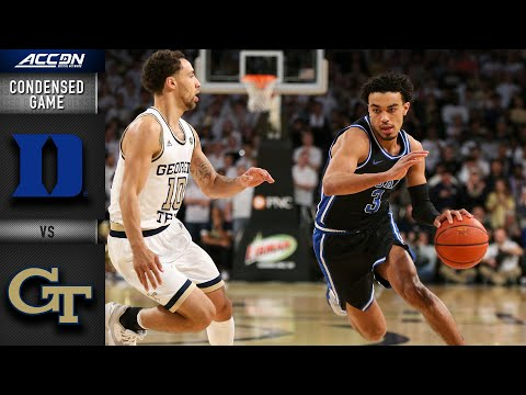 Duke vs. Georgia Tech Condensed Game | 2019-20 ACC Men's Basketball