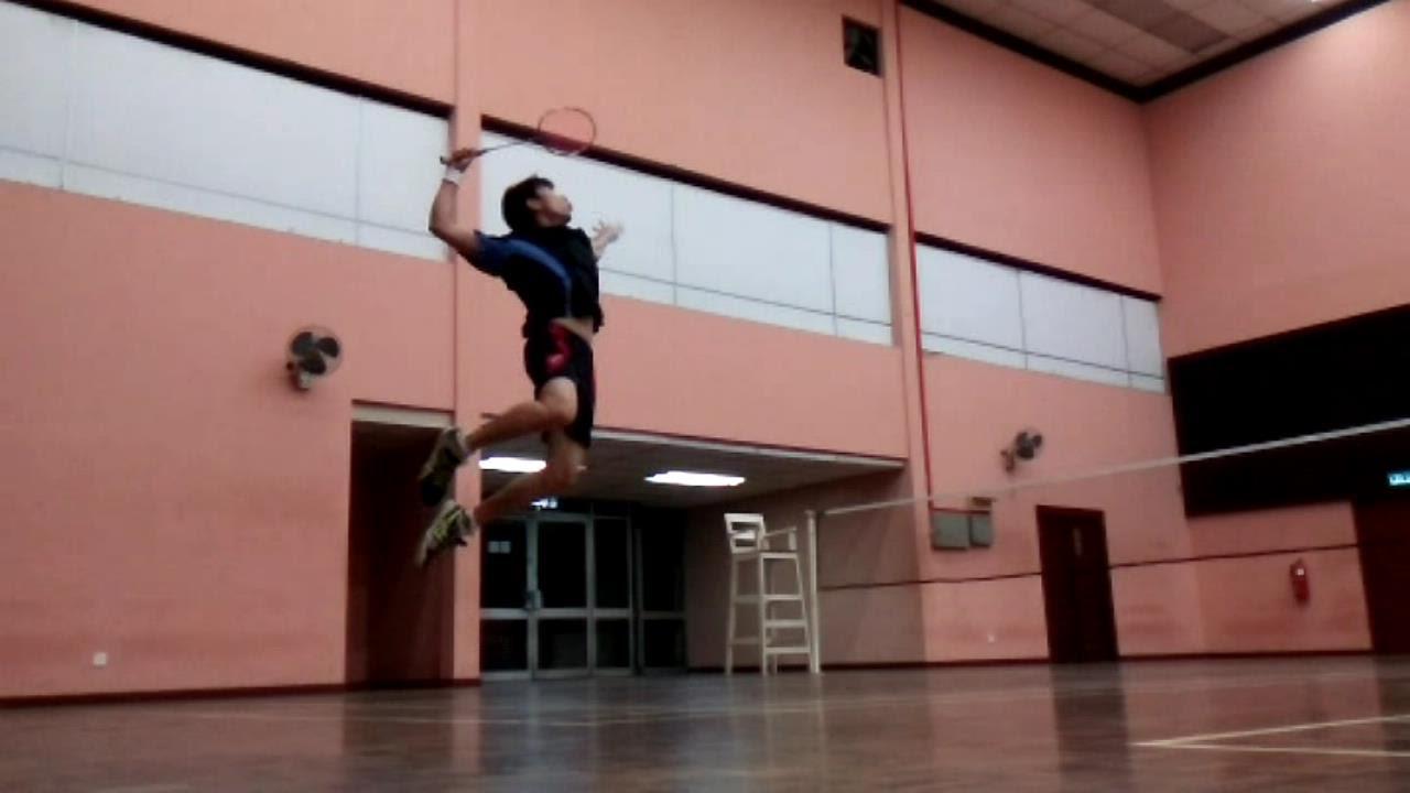 Badminton jump smash technique