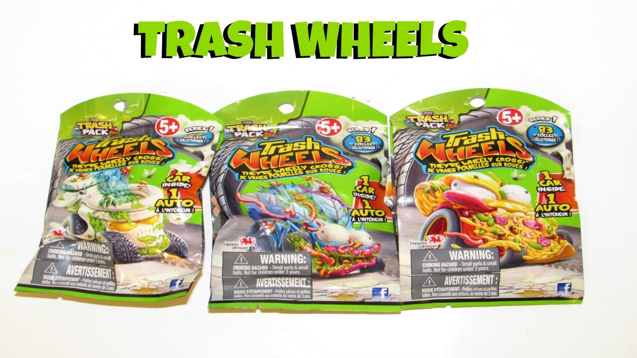 The Trash Pack Wheels Burger Flip Out Playset And Gas N Go