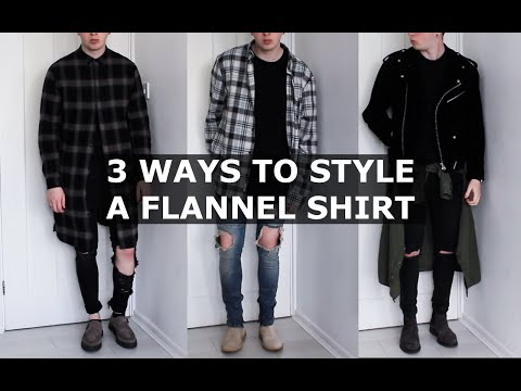 3cb3e7db2d69 3 Ways to Style a Flannel Shirt | Oversized, Longline, Plaid Shirt |  Gallucks - YouTube