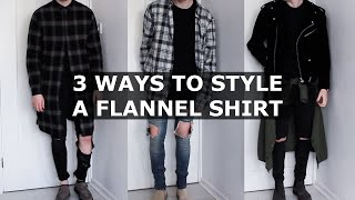 3 Ways to Style a Flannel Shirt | Oversized, Longline, Plaid Shirt | Gallucks
