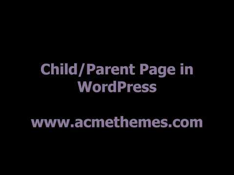 How To Create Parent Page and its Child Pages in WordPress
