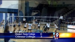 Volleyball: Odessa College Wins/Midland College Loses