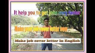 How to  make  your own job cover letter in english in 2018