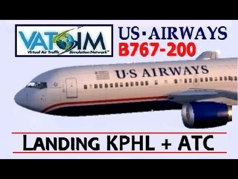 VATSIM: US Airways B767-200 Landing in Philadelphia with ATC