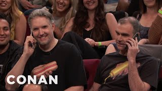 Shirt Buddies In The CONAN Audience  - CONAN on TBS