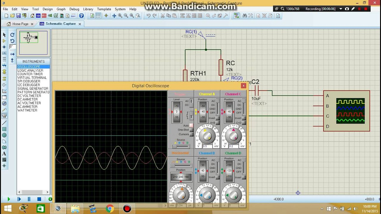 How To Make A Pure Sine Wave Generator300 Watts Pwm Controlled Project Circuit Design Scr Inverter Using Bstc1026 Lesson No 2 Signal Generator Amp Oscilloscope In