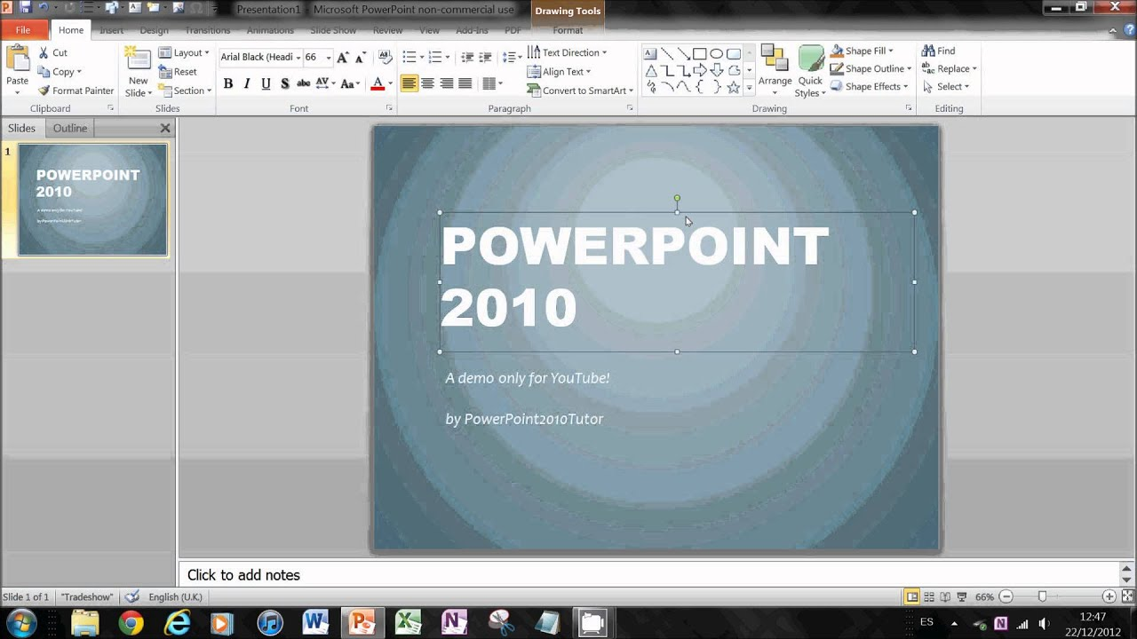 Slideshow powerpoint timing tutorial