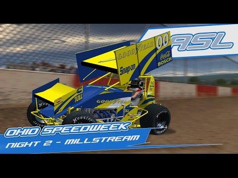 rFactor: Ohio Speedweek - Night 2 (410 Sprintcars @ Millstream Speedway)