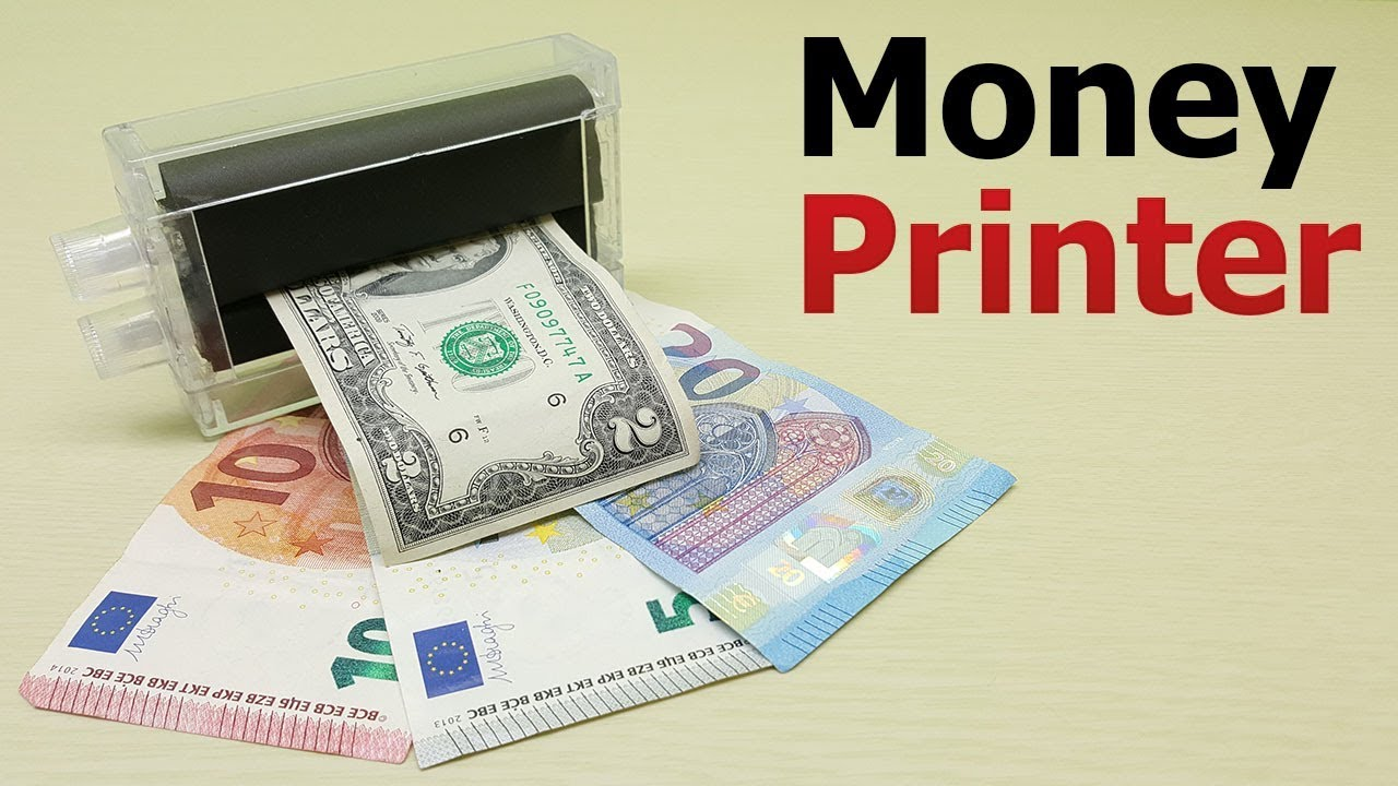 Currency Printing Machine Magic Trick   How To Print Money at Home   Money  printing machine