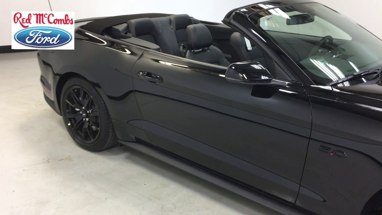 2017 Ford Mustang Convertible In Black