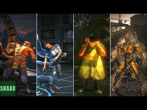 "Mortal Kombat XL - All Characters ""Finish Him"" Dazed Animations |"